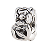 Sterling Silver Charm Bead with Flowers Around for Interchangeable Bracelets