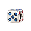 The Hard Way - Lucky Dice Sterling Silver Charm Bead, Large Hole Bead