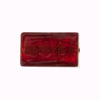 Murano Glass Red Gold Foil Rectangle Bead, 20mm x 10mm