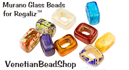 Authentic Murano Glass Beads now available for Regaliz Leather Bracelets