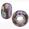 Alessandrite Bed of Roses Rondel 6mm Hole Murano Glass Bead