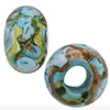 Celeste Bed of Roses Rondel 6mm Hole Murano Glass Bead