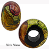 Multi Macchiavelli 24kt Gold Rondelle 15x10mm 5mm Hole, Murano Glass Bead