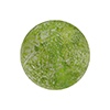 Murano Glass Ca'd'Oro Round Bead, 10mm, Herb Green with White Gold