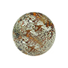 Murano Glass Ca'd'Oro Round Bead, 10mm, Topaz with White Gold