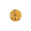Light Topaz and 24kt Gold Foil Ca'd'Oro Round 12mm, Murano Glass Bead