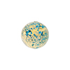 Light Aqua Blue and 24kt Gold Foil Ca'd'Oro Round 12mm, Murano Glass Bead