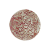 Rubino Pink and White Gold Foil Ca'd'Oro Style Murano Glass Round Bead, 12mm