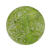 Herb Green and White Gold Foil Ca'd'Oro Style Murano Glass Round Bead, 12mm