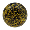 Black Ca'd'oro Gold Foil Round 14mm Murano Glass Bead