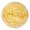 Clear Ca'd'oro Gold Foil Round 14mm Murano Glass Bead