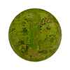 Herb Green Ca'd'oro Gold Foil Round 14mm Murano Glass Bead