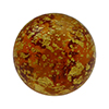 Topaz Ca'd'oro Gold Foil Round 14mm Murano Glass Bead