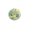 Light Aqua Ca'd'oro Gold Foil Round 14mm
