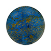 Aqua Ca'd'oro Gold Foil Round 14mm Murano Glass Bead