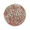 Rubino Pink Murano Glass Ca'd'oro White Foil Splashes Round Bead 14mm