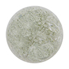 Clear with Ca'd'oro White Foil Splashes Round 14mm Authentic Murano Glass Bead