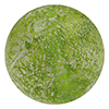 Herb Green  Murano Glass Ca'd'oro White Foil Splashes Round Bead 14mm