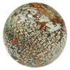 Topaz Murano Glass Ca'd'oro White Foil Splashes Round Bead 14mm