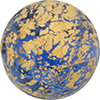 Blue C'a'doro Gold Foil Round Shape 30mm Murano Glass Bead