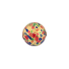 12mm Cluseau Multi Clear Murano Glass Bead, Round, Gold Foil