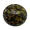 Black and White Cluseau over 24kt Gold Foil and Crystal, 14mm Round Murano Glass Bead