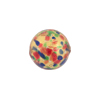 14mm Cluseau Multi Clear Murano Glass Bead, Round, Gold Foil