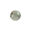 Steel Silver Sparkler Dichroic Murano Glass Bead, Round, 12mm