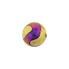 Murano Glass Bead, Carnevale Dichroic Round 12mm Exterior Gold and Magento