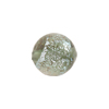 Murano Glass Bead, Dichroic Steel Silver Sparklers Round 14mm