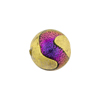 Murano Glass Bead, Carnevale Dichroic Round 14mm Exterior Gold Magento