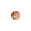 Wedding Cake Round 10mm Opaque Red Murano Glass Bead