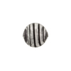 Murano Glass Bead Black Filigrana Stripes Round Black Base Silver 12mm