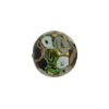 Murano Glass Bead Bed of Roses Round 14mm Black & Gray