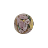 Murano Glass Bead Bed of Roses Round 14mm Viola