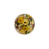 Murano Glass Bead Bed of Roses Round 14mm Maroon