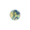 Aqua, Blue Aventurina Gold Foil Galaxy, 30mm Round, Murano Glass Bead