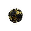 Black Frit and Gold  Murano Glass Bead, Round w/Gold Exterior, 16mm
