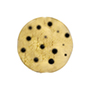 Chocolate Leopard 20mm Round Gold Foil Murano Glass Bead, Small Dots