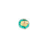 Sea Green Luna Round 9mm Gold, Silver, Aventurina Venetian Glass Bead