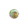 Multi Colors White Gold Foil Machiavelli Venetian Glass Bead , Round 12mm