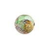 Multi Colors White Gold Foil Machiavelli Venetian Glass Bead , Round 14mm