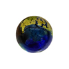 Dark Multi Colors White Gold Foil Machiavelli Venetian Glass Bead , Round 16mm