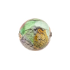 Multi Colors White Gold Foil Machiavelli Venetian Glass Bead , Round 16mm