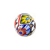 Bright Multi-Colored Millefiori Murano Glass Bead, Round, 16mm