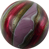 Murano Glass Bead Viola, Rubino Missoni Round 12mm