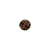 Murano Glass Bead Aventurina Sommerso Round 8mm Black