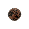 Murano Glass Bead Aventurina Sommerso Round 16mm Black