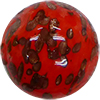 Aventurina Sommerso Round 25mm Deep Red, Murano Glass Bead