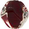 Venetian Bead Pebble 30mm, Red Base, Crystal Exterior